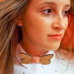 papillon legno GIGETTO1910 Dreams ragazza