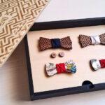 papillon legno Gigetto confezione regalo
