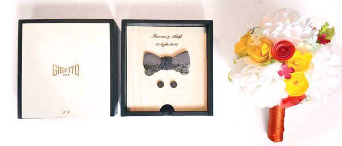 Papillon Legno scatola personalizzato GIGETTO