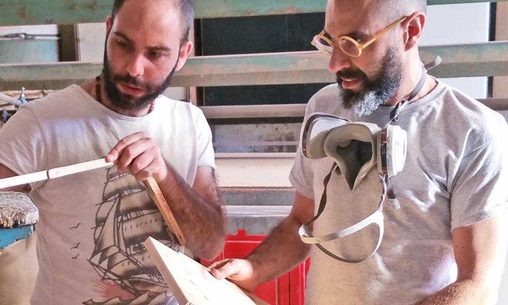 papillon legno personalizzato Gigetto