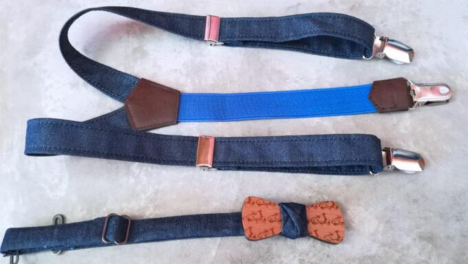papillon legno bambino vespette bretelle jeans
