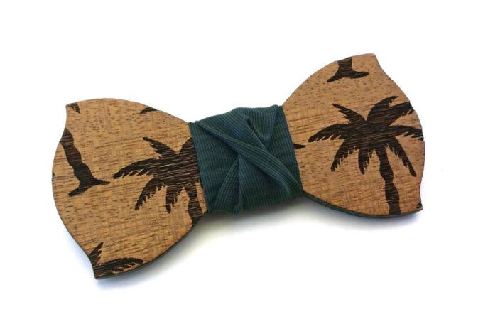 papillon legno palme verde gigetto