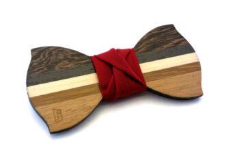 papillon legno rosso dandy gigetto