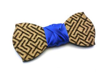 papillon legno labirinto blu gigetto