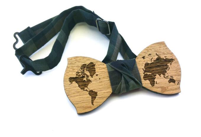 papillon legno mappamondo verde gigetto