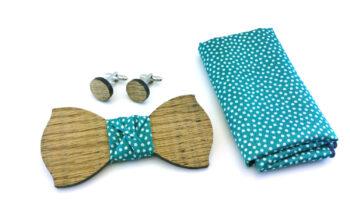 papillon legno gemelli fazzoletto taschino verde gigetto