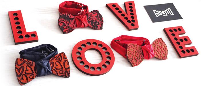 papillon legno rosso san valentino love gigetto cuori