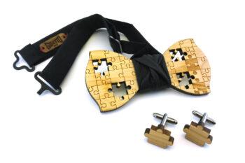 papillon gemelli legno puzzle nero Gigetto