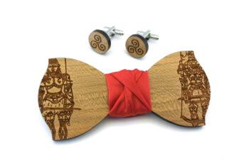 papillon gemelli legno sicilia pupi rosso Gigetto