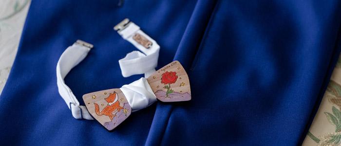 papillon legno cerimonia matrimonio personalizzato artigianale dipinto a mano gigetto