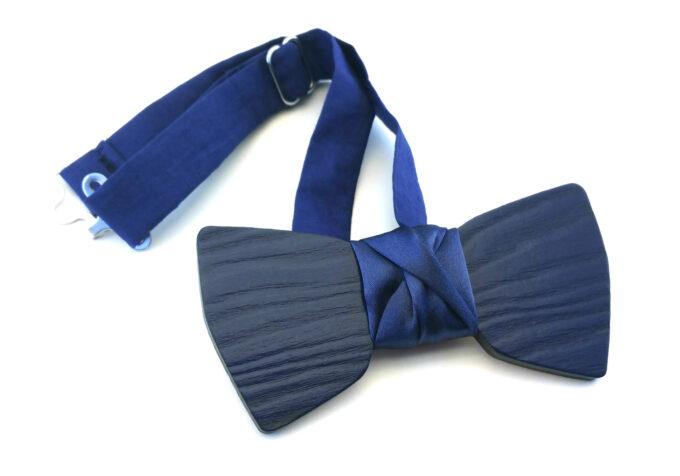 papillon legno elegante blu Gigetto