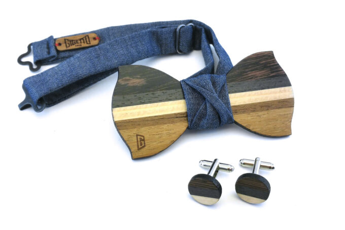 papillon legno gemelli dandy jeans