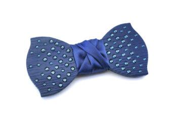 papillon legno strass blu matrimonio cerimonia