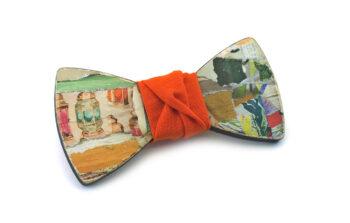 papillon legno collage Gigetto artistico arancione