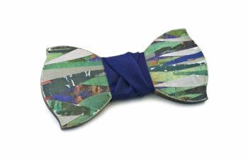papillon legno collage Gigetto artistico verde blu
