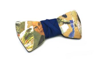 papillon legno frida kahlo collage arte gigetto farfallino blu