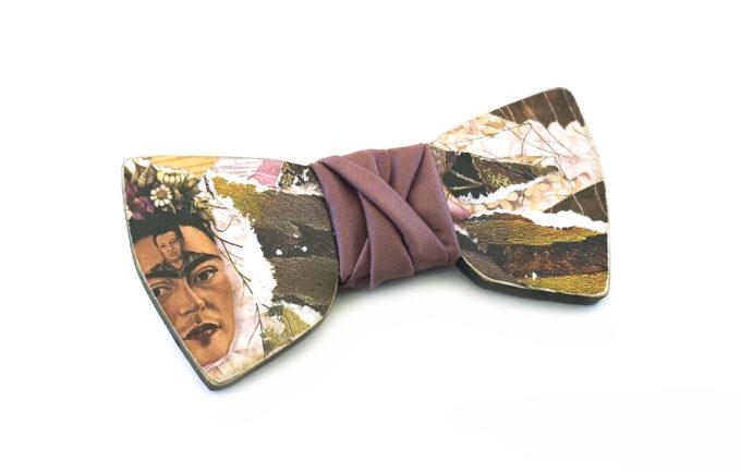 papillon legno frida kahlo collage arte gigetto farfallino glicine