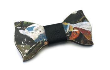 papillon legno frida kahlo collage arte gigetto farfallino nero
