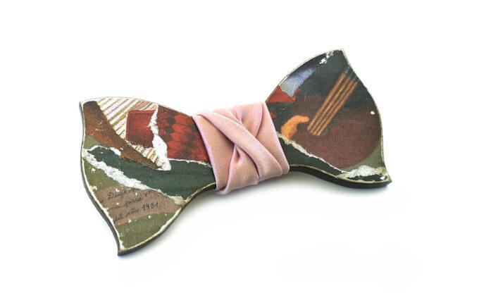 papillon legno frida kahlo collage arte gigetto farfallino rosa