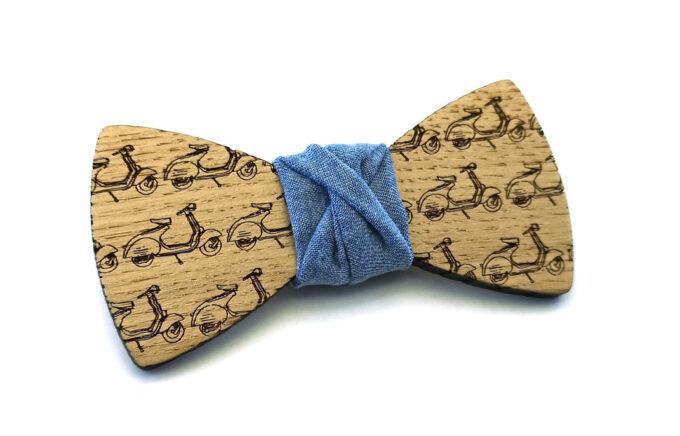 papillon legno vespette Gigetto jeans
