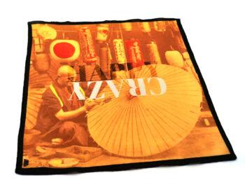 fazzoletto taschino pochette Gigetto japan ombrello di carta e lanterne happy crazy giallo