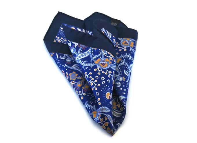 fazzoletto-taschino-seta-pochette-fiori-blu-giallo-fantasia-Gigetto