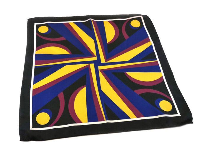 fazzoletto-taschino-seta-pochette-geometrico-giallo-blu-rosso-Gigetto