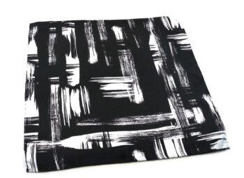 fazzoletto taschino seta pochette pennellate bianco nero painting arte Gigetto