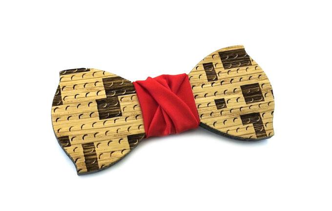 papillon legno mattoncini lego gigetto raso rosso costruzioni