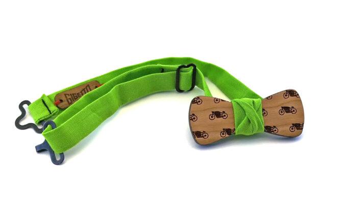 papillno legno ciliegio moto verde Gigetto