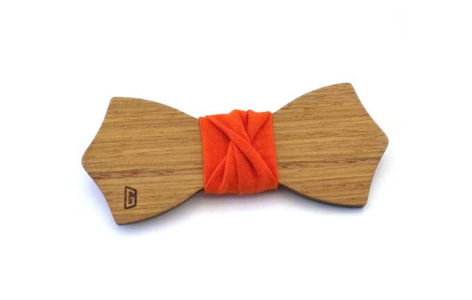 papillon legno arancione Gigetto
