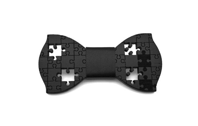 papillon legno nero puzzle ecopelle Gigetto