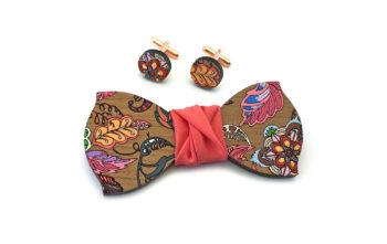 papillon dipinto a mano legno gemelli floreale gigetto