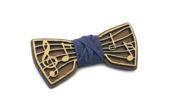 papillon legno note musicali musica jeans gigetto