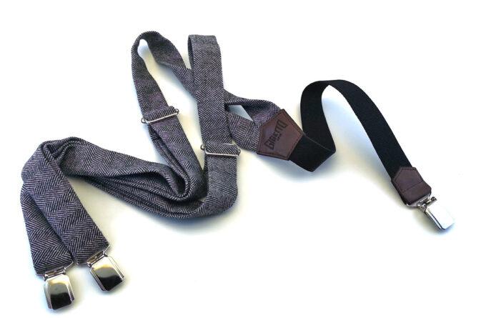 bretelle lana spina grigio elastico nero gigetto