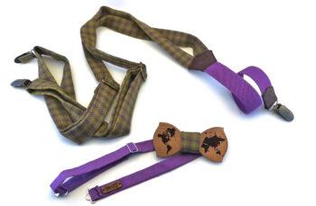 papillon mappamondo mogano bretelle lana verde elastico viola gigetto