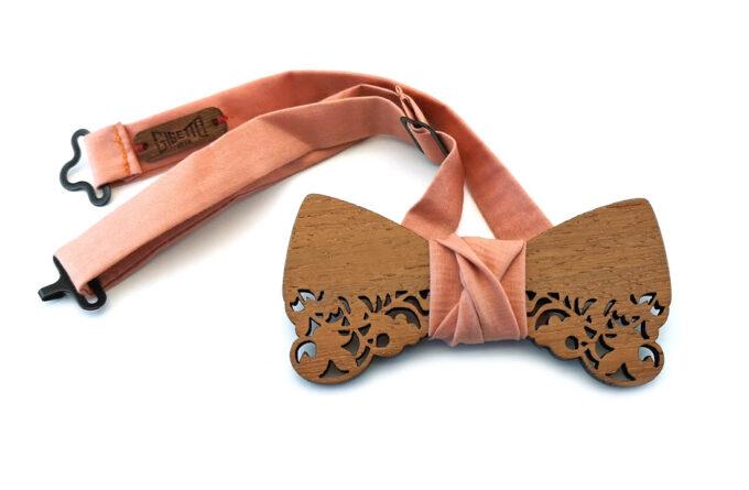 gigetto1910 papillon legno barocco bucato rosa