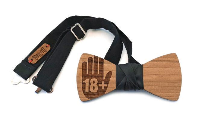 gigetto1910 papillon legno diocettesimo raso nero