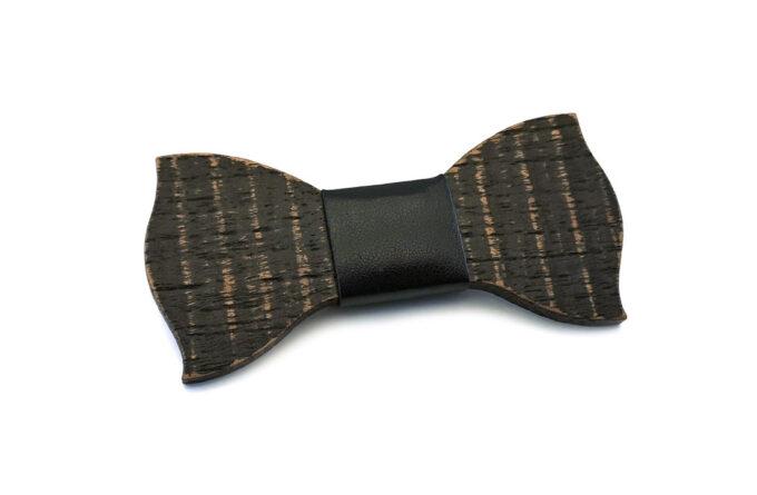 gigetto1910 papillon legno nero ondine spazzolato