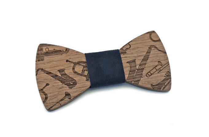 gigetto1910 papillon legno sax sassofono blu