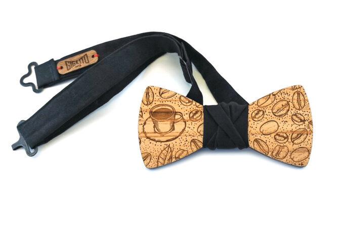 papillon legno tazzina caffè nero gigetto1910